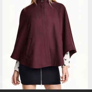 H&M burgundy cape